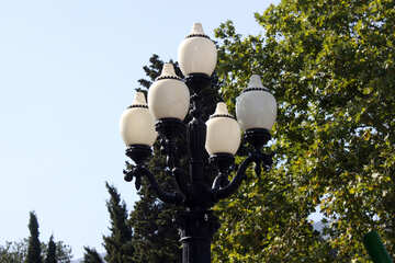 A lantern on the seafront of Yalta №2203