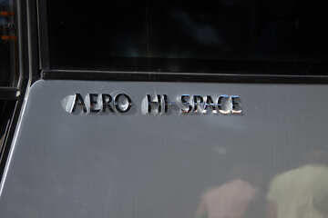 Logo auf den Bus. HALLO Aero-space №2208