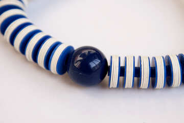 Blue plastic beads. Large. №2057