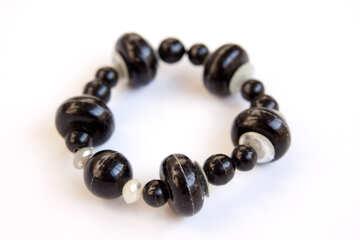 Bracelet black and white №2065