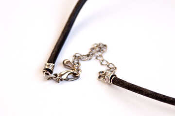Clasp on cord for jewelry. №2076