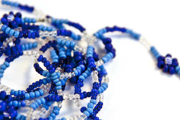 Glass beads on string №2083