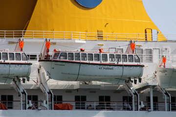 Lifeboats on cruise ship Costa Europa №2190