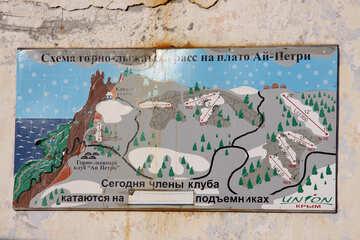 Scheme of Mining and ski slopes on Ai-Petri plateau №2280