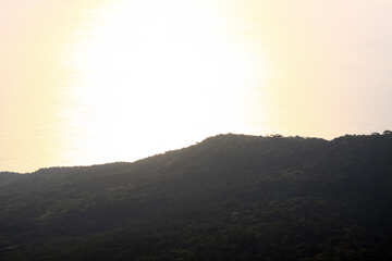 Mountain sunrise lit №2265