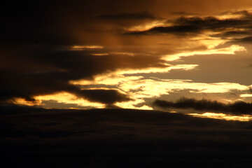 golden rays of sunset sky №2792