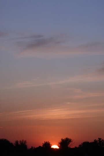 arancione blu del cielo  №2879