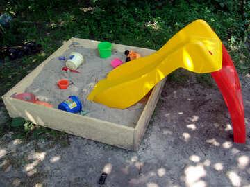 sandbox and slide  №2769