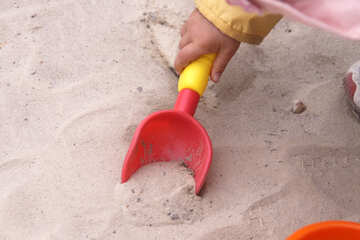 Children with shovel handle  №2862