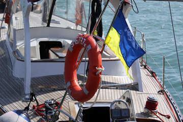 Lifebuoy on yacht №2195