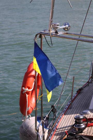 Bandiera ucraina e un salvagente №2182