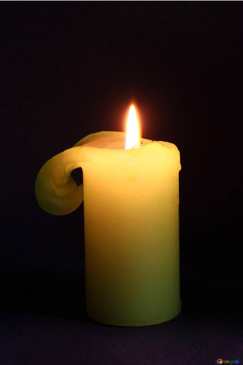 Burning candle №2390