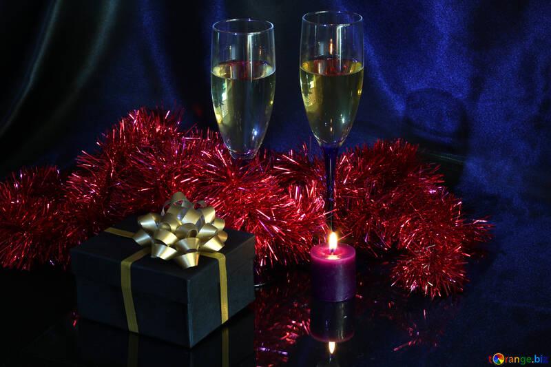 Champagne Geschenk Kerze  №2741