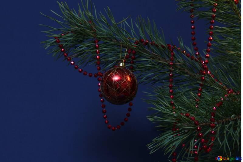 Новогоднее украшение. Красный шар №2351