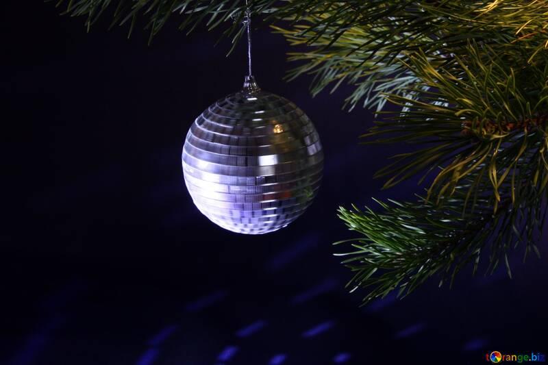 Зеркальный шар. Новогоднее украшение. №2353