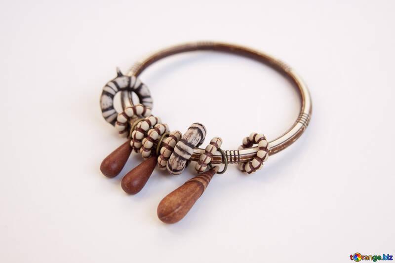 Bone bracelet, collar ... №2055