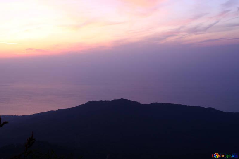 Alba Alba Sul Mare E Le Montagne Luce 2253