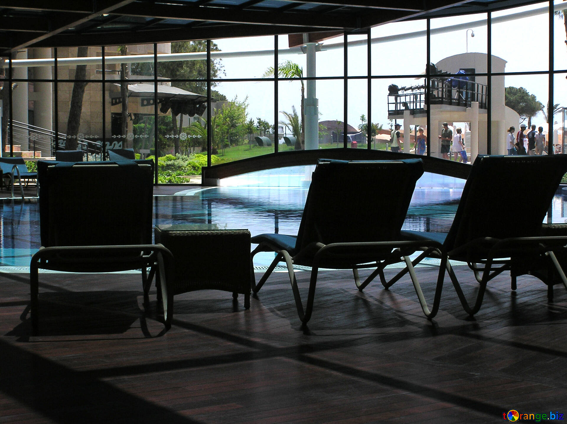 Armchairs indoor and outdoor swimming pool pool № 20703