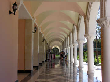 Gallery with columns №20829
