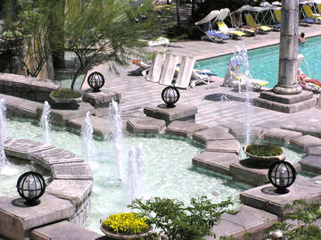 Pool with fountains №20688