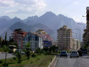 Town in the mountains №20985