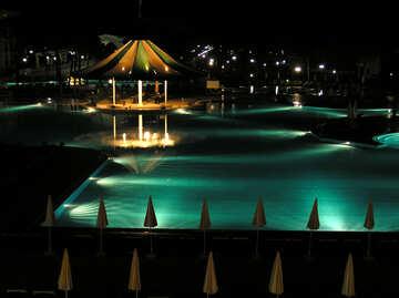 Pool at night №20954