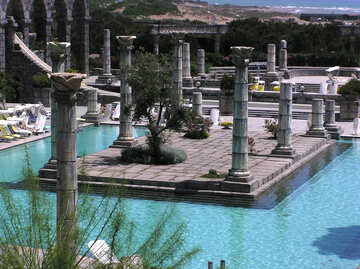 The columns in the pool №20690