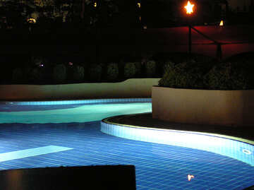 Glowing water in the pool №20810
