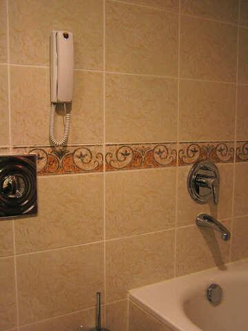 Telephone in bathroom №20814