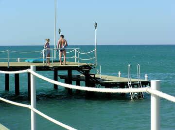 Menschen schwimmen gehen №20867