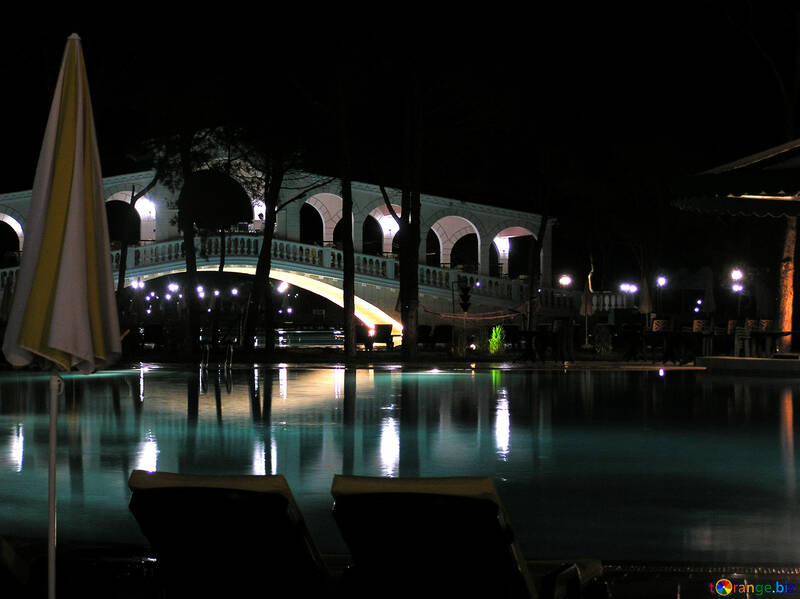 Swimming pool with lighting №20957