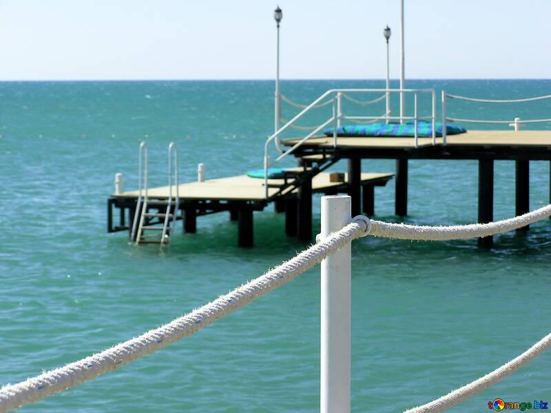 Muelle en la playa №20866