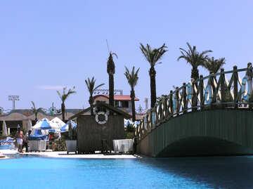 The bridge over the pool №21055