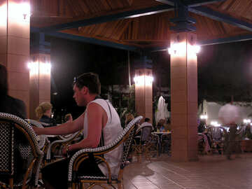 Dinner at the restaurant on the sea №21107