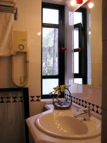 Bathroom design with window №21125