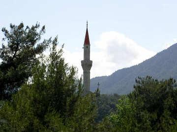 Minareto di montagne sullo sfondo №21983