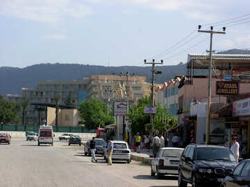 Türkische Straße an der Küste №21134