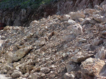 Landslide in the mountains №21166