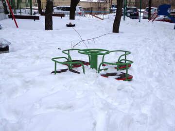Playground in winter №21521