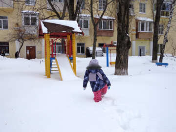 Playground in winter №21530