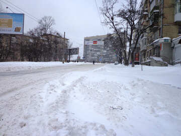 City after the snow №21587