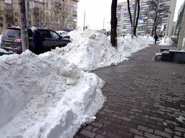 Sidewalks cleared of snow №21534