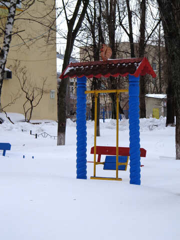 Baby swing in the snow №21532