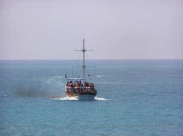 Molti turisti su yacht №21740