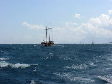 Yacht in the sea №21922