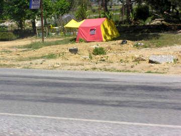 Tenda dal lato della №21788