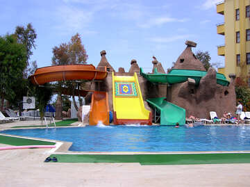 Water slides in the pool №21741