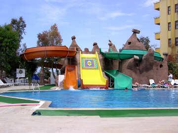 Wasserrutschen in den pool №21741
