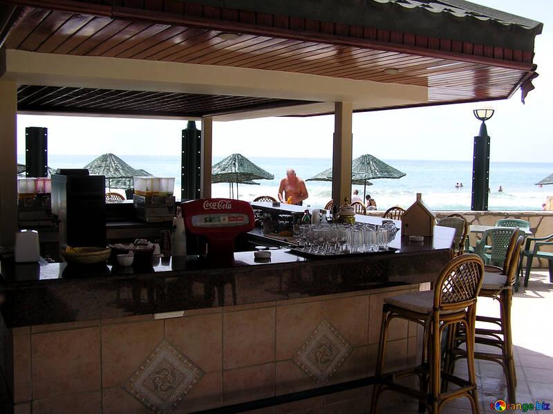 Sgabelli da bar bar sulla spiaggia mobilia №