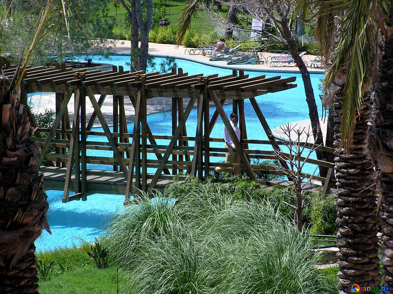 Die Brücke über den pool №21082